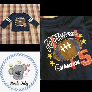 Size N/B baby boys baby football shirt
